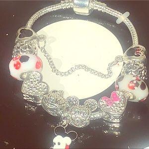 Jewelry - 925 stamped silver filled micky heart ❤️ bracelet